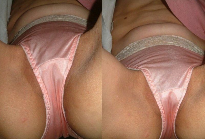 サテン系テカテカツルツルのピンク色パンティー画像5枚目