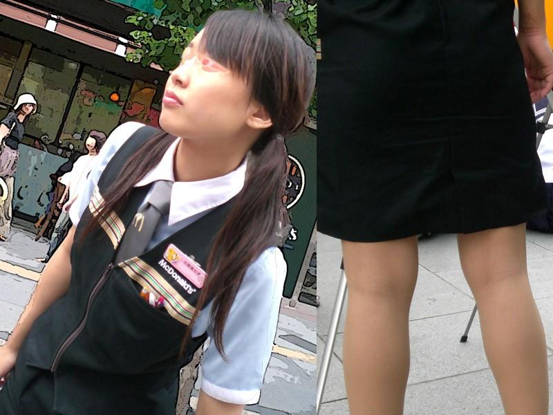 マクドナルド店員のミニスカ制服のエロ写メ流出画像27枚目