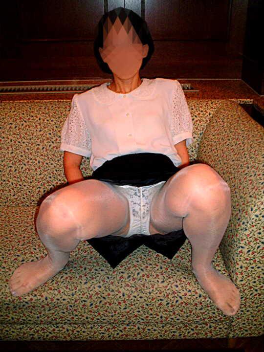 破かれた熟女パンスト巨尻ラブホハメ撮りエロ画像7枚目