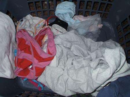jk妹のいちごパンツ洗濯機の中の下着盗撮エロ画像2枚目