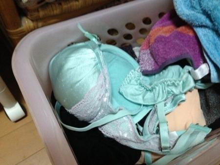姉のマン汁クロッチ大量付着洗濯機の中の下着盗撮エロ画像10枚目