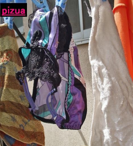 貧乳Bカップjk妹のベランダの下着盗撮エロ画像15枚目