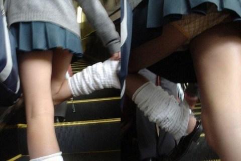 太ももと下尻がエロイ階段下jkパンチラ下着盗撮画像12枚目