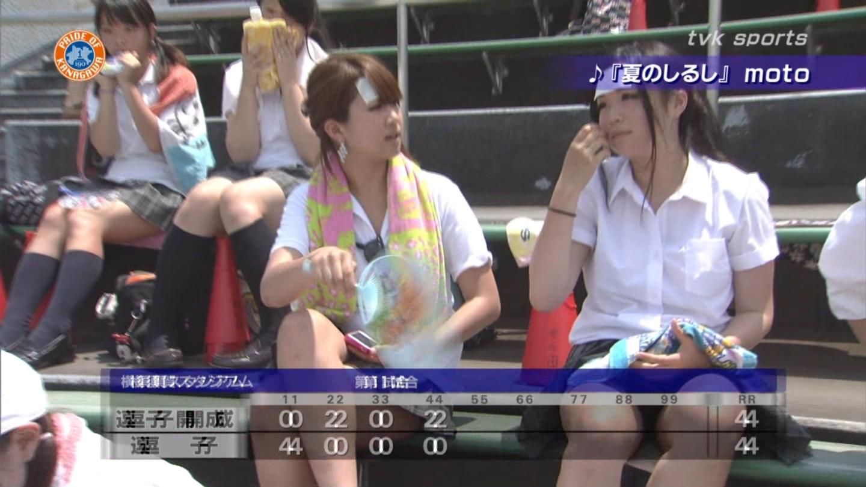 甲子園jkチアガール下着を逆さ盗撮するオマイラ画像11枚目