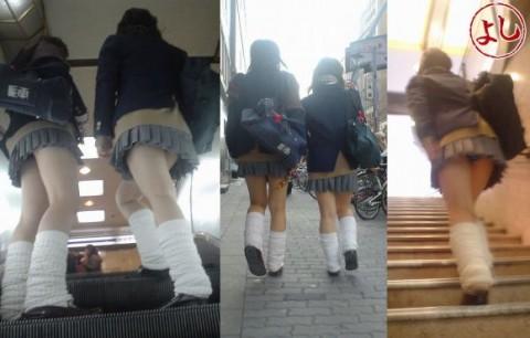 休日の私服jk街撮り階段下から下着盗撮エロ画像13枚目