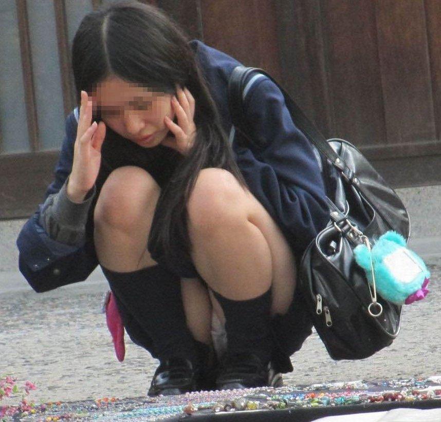 素人処女jk達の街撮りロリパンツ下着盗撮エロ画像7枚目