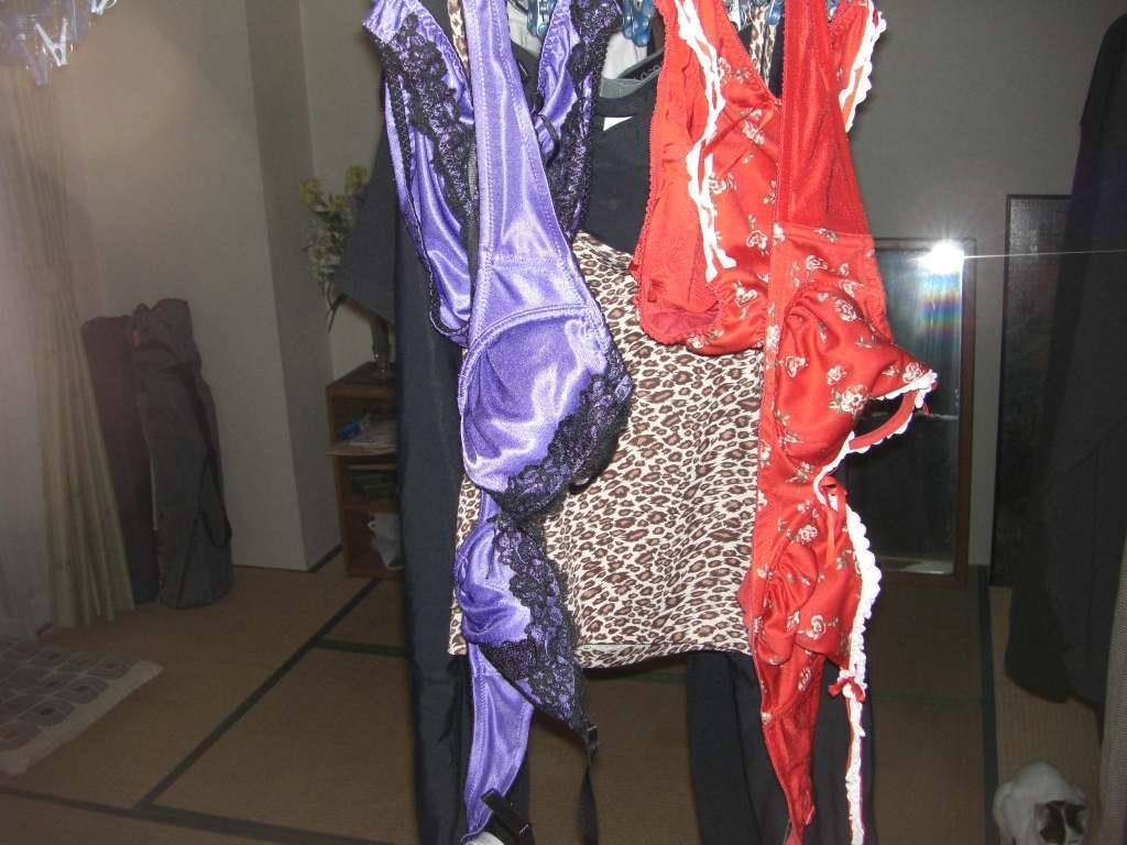 壁際に干された姉のベランダの下着を盗撮したエロ画像7枚目