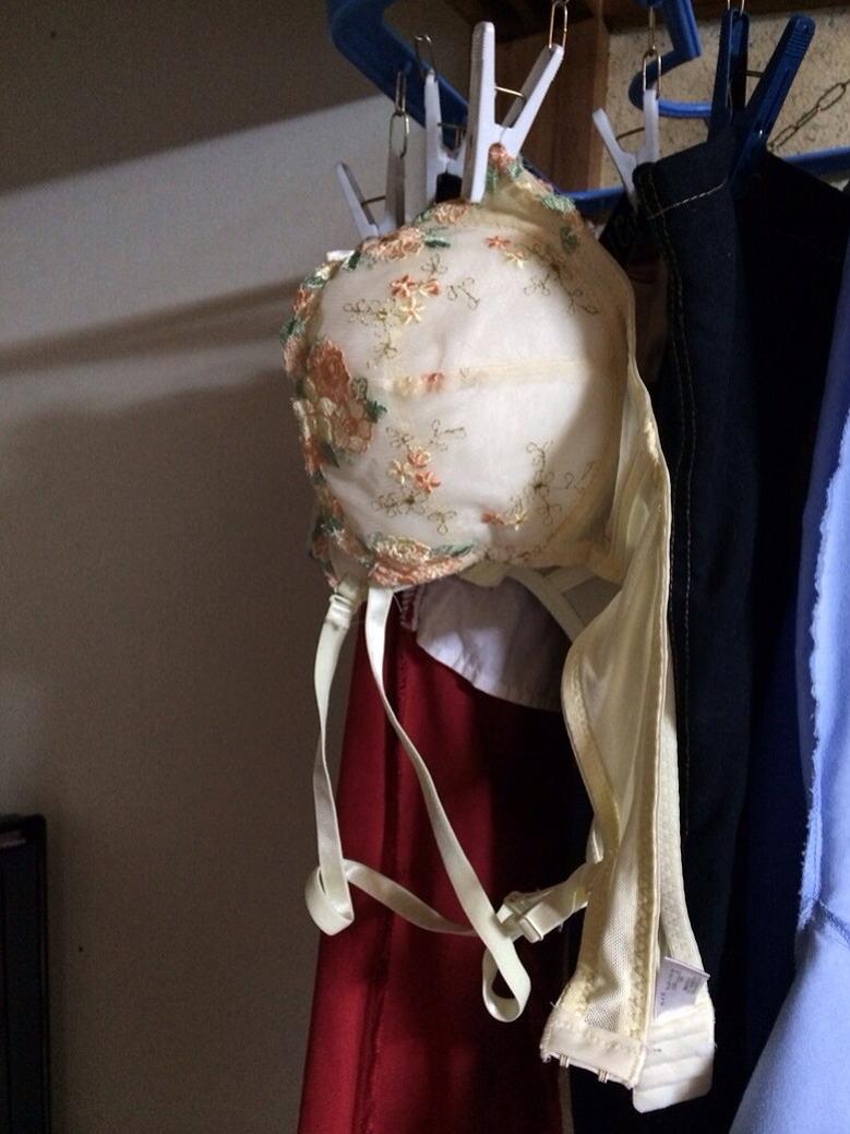 下の階のベランダに干された女子大生の下着盗撮画像9枚目