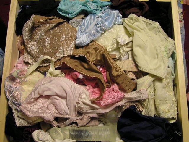 水色のブラがエロいjk妹のタンスの中の下着盗撮エロ画像12枚目