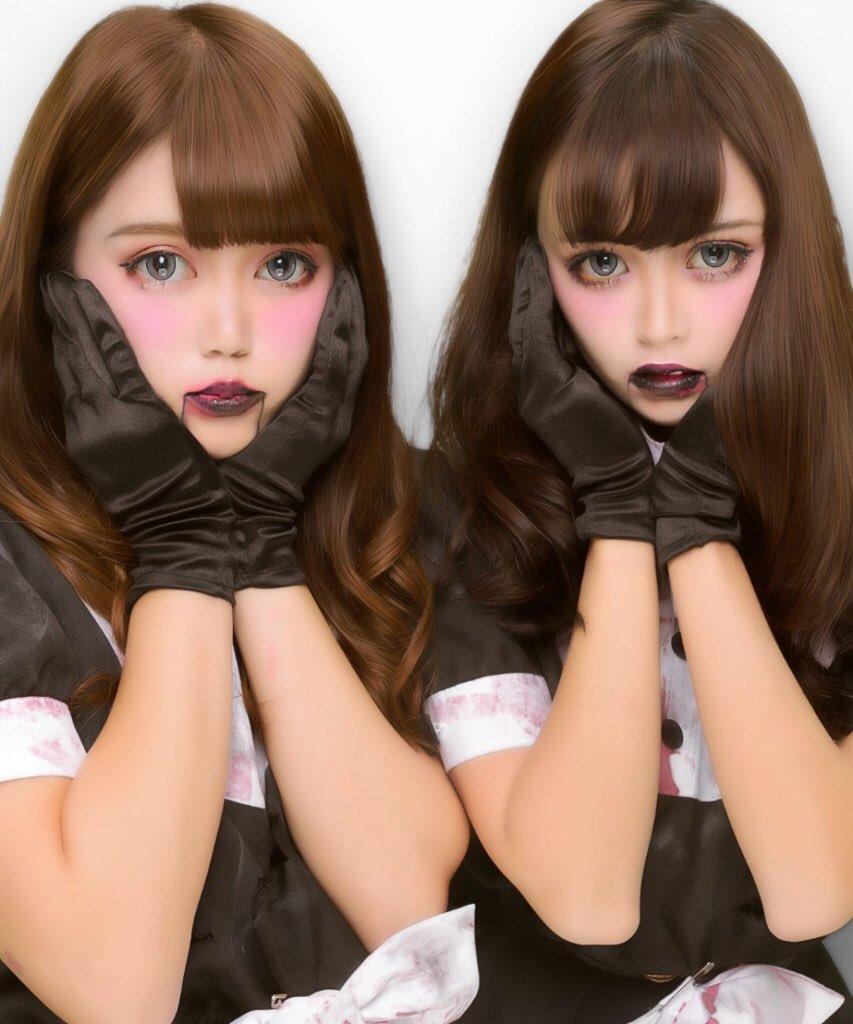 胸チラさせる渋谷のハロウィンjkエロコス露出エロ画像3枚目