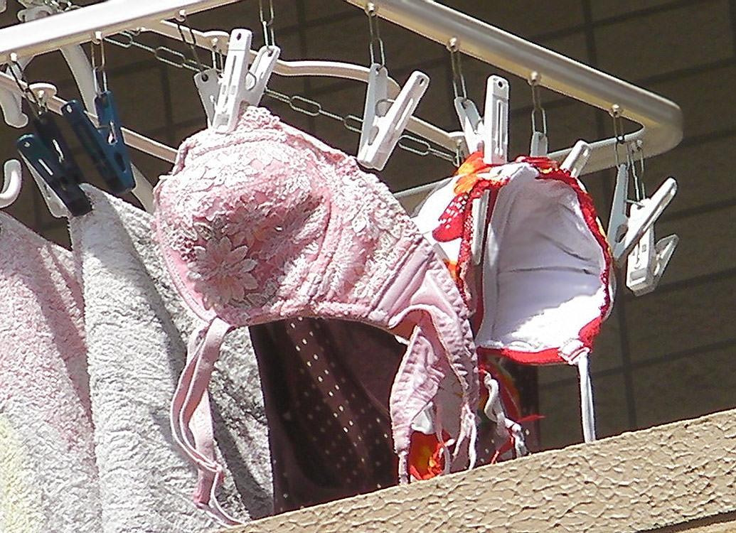 jk妹の姉の下着に紛れたベランダ下着盗撮エロ画像11枚目