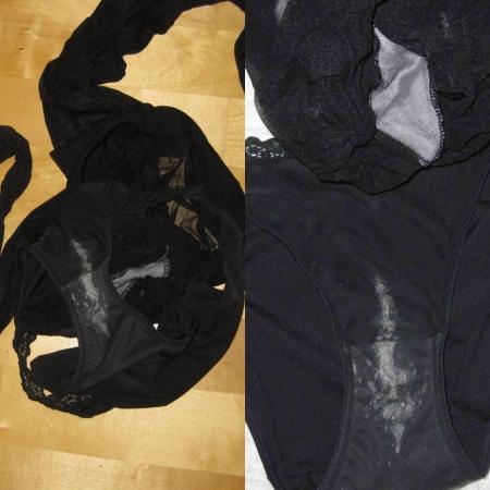 洗濯前のJC妹シミ付きクロッチ下着盗撮エロ画像15枚目
