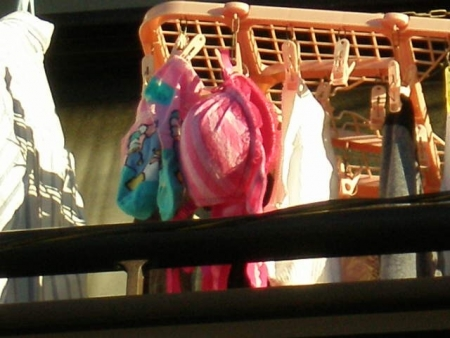 早熟DカップJC妹のベランダの下着盗撮エロ画像