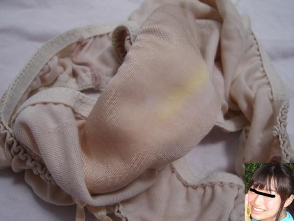 顔出し素人の脱ぎたて下着のクロッチ汚れエロ画像15枚目