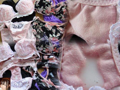 jc妹の下着でパンコキオナニー射精したエロい画像15枚目