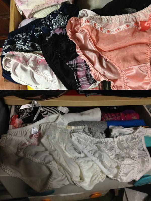 jc妹のタンスの中にあった綿素材の下着盗撮エロ画像16枚目