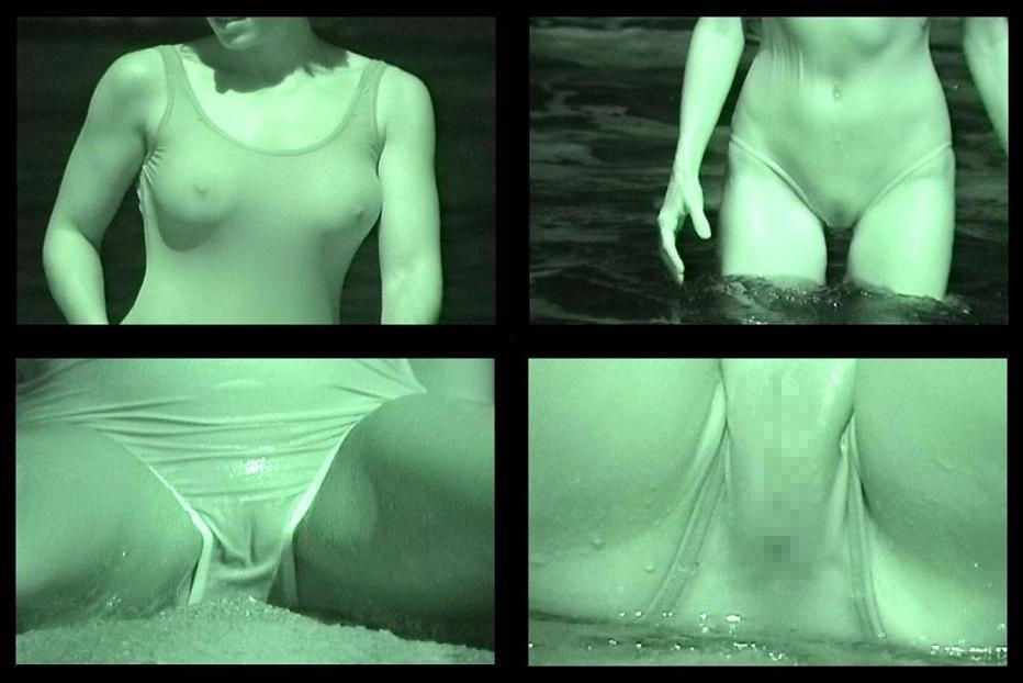 膨らみかけも剛毛も赤外線盗撮で透けたjkのエロ画像6枚目