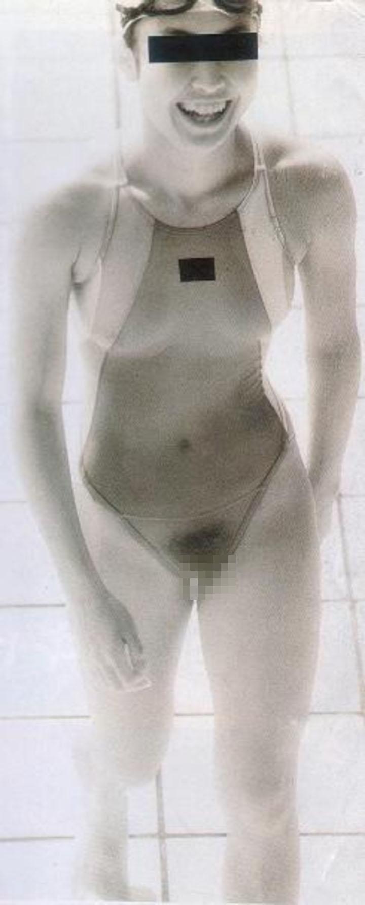 膨らみかけも剛毛も赤外線盗撮で透けたjkのエロ画像16枚目
