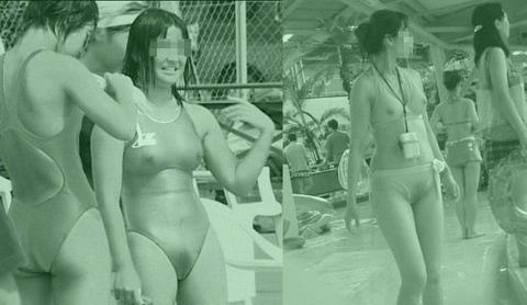 女子陸上を赤外線盗撮して浮き上がる下着エロ画像10枚目