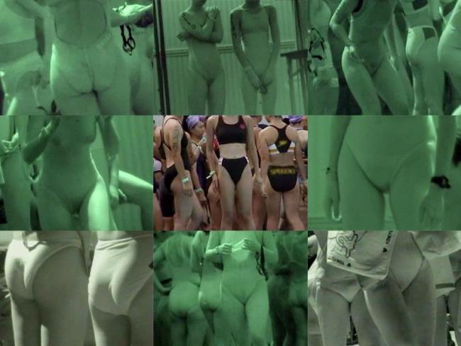 競泳水着jkの乳首と股間の赤外線マニア盗撮エロ画像16枚目