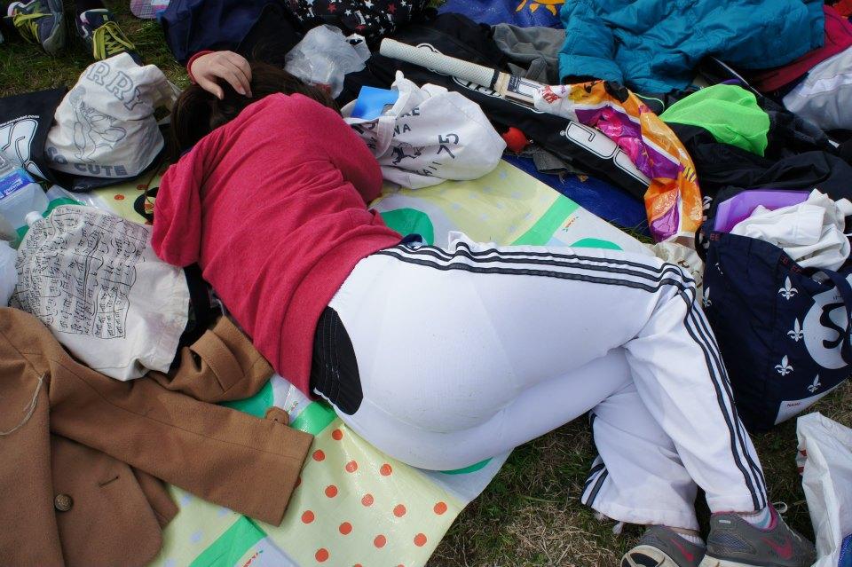 陸上女子選手のスパッツのスジマン盗撮エロ画像6枚目