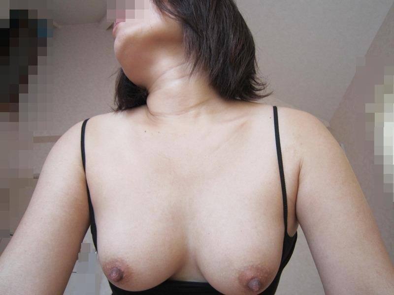 人妻が顔出しはダメと言いながら巨乳を晒すエロ画像9枚目