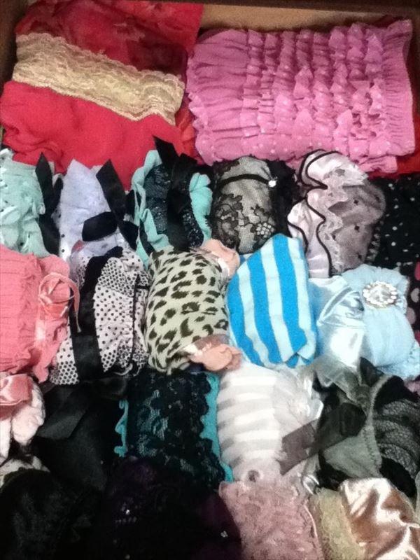 洗濯前の汚れたクロッチがエロいjkしまパンツ画像16枚目