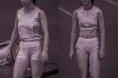 女子陸上選手の走り終えた姿の赤外線盗撮エロ画像7枚目
