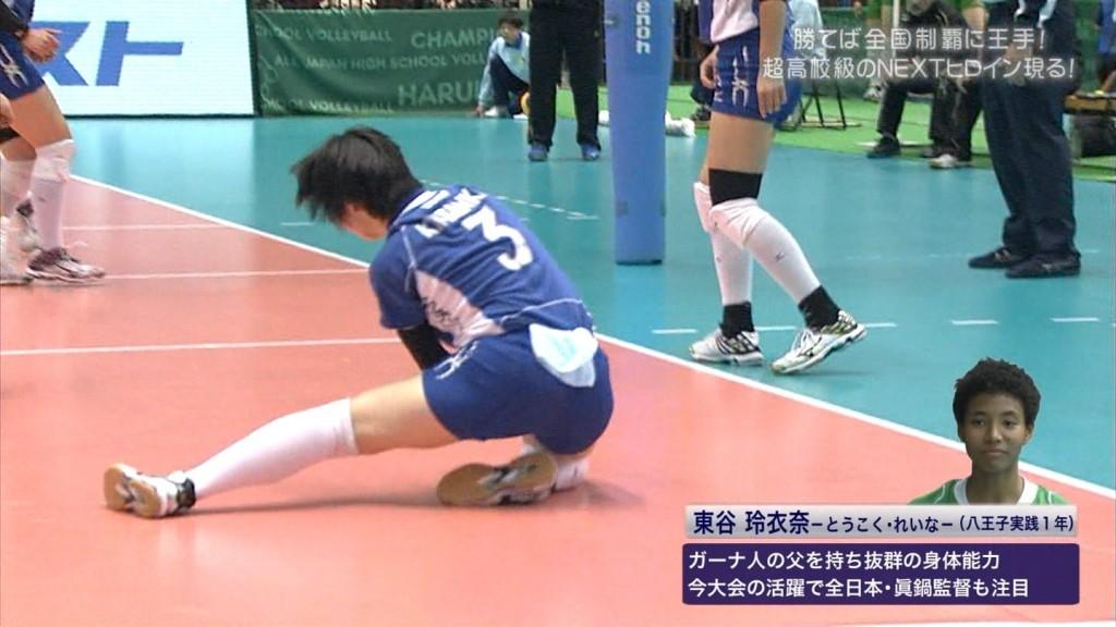 バレーボールの女子選手春高まん筋盗撮エロ画像5枚目