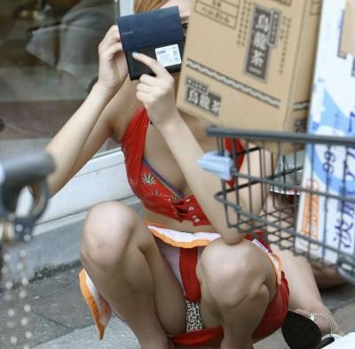 素人女子大生のまん臭が匂いそうな下着盗撮エロ画像8枚目