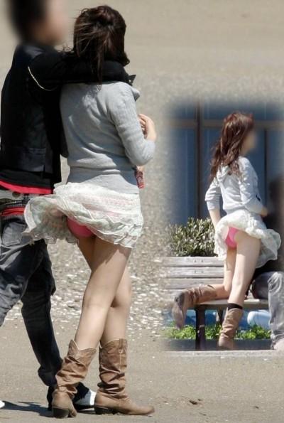素人女子大生のまん臭が匂いそうな下着盗撮エロ画像12枚目