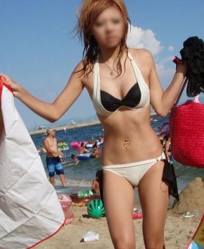 女子大生のインスタ映えしそうな透け水着のエロ画像8枚目
