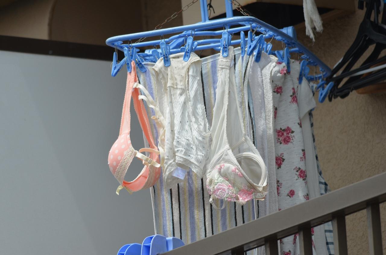 純白ロリパンツが風になびくベランダの下着盗撮画像11枚目