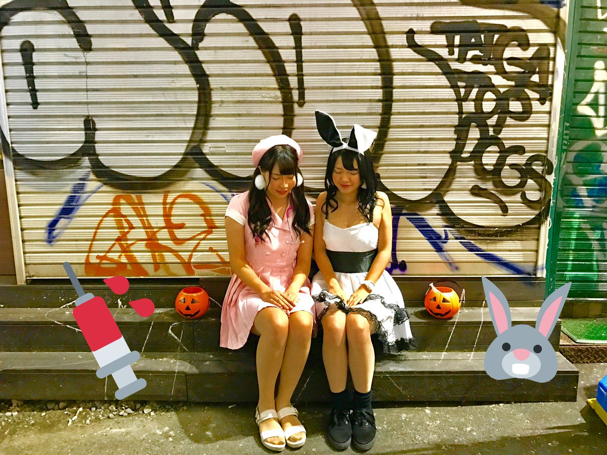 ハロウィン渋谷でオフパコするエロコスプレ少女エロ画像1枚目