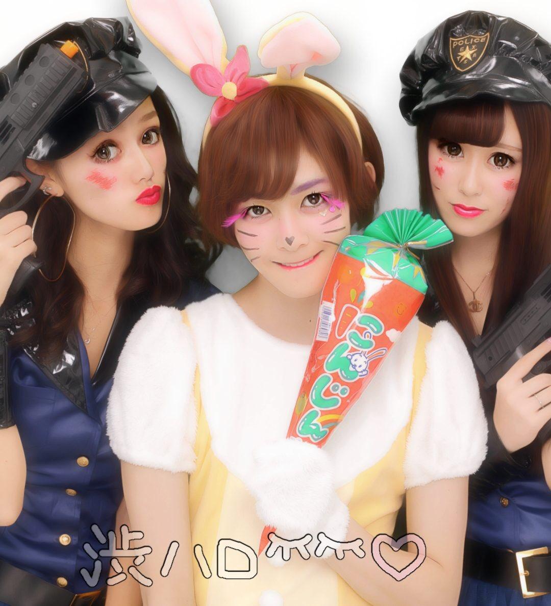 ハロウィン渋谷でオフパコするエロコスプレ少女エロ画像7枚目