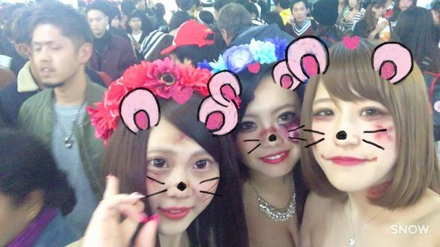 渋谷ハロウィンはオフパコもOKな淫乱少女の援交画像
