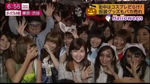 ナンパ待ちする2017渋谷ハロウィンのエロコス画像2枚目