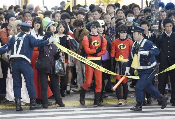 ナンパ待ちする2017渋谷ハロウィンのエロコス画像7枚目
