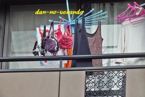 マンションのベランダ下着をストーカーが盗撮したエロ画像2枚目