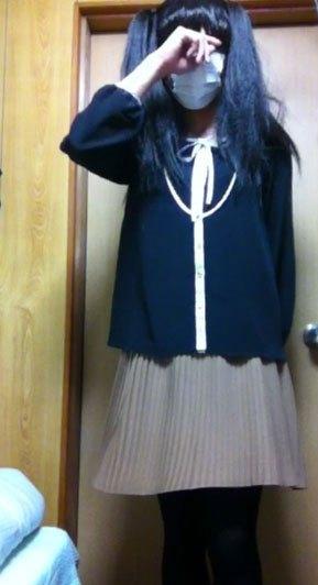 これなら掘れる?女装した男の娘の制服エロ画像2枚目