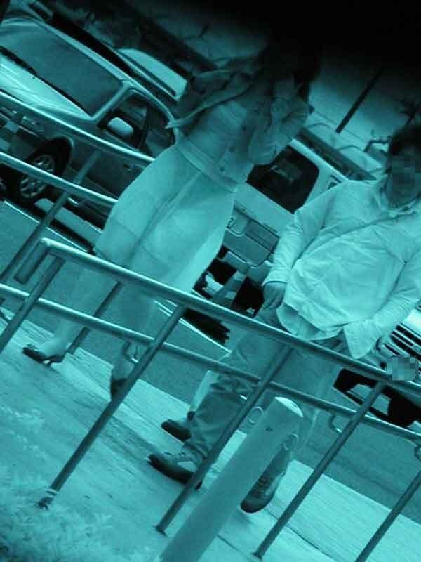 赤外線盗撮で顕になった女子バレー下着エロ画像10枚目