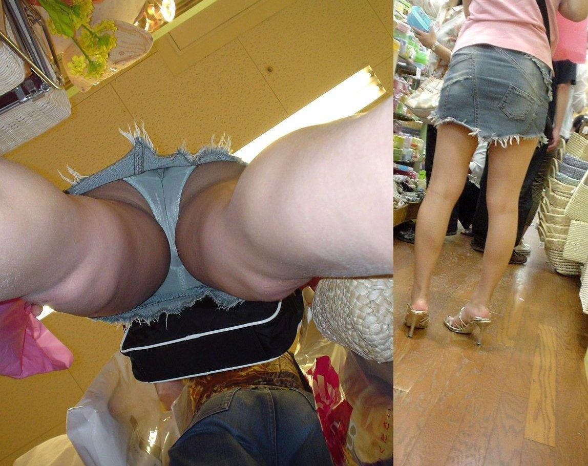 携帯に夢中な隙きに女子大生の逆さ下着盗撮エロ画像12枚目