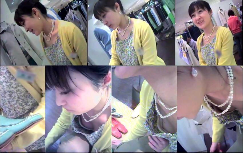 貧乳気味の店員さんの浮きブラ胸チラ盗撮エロ画像15枚目