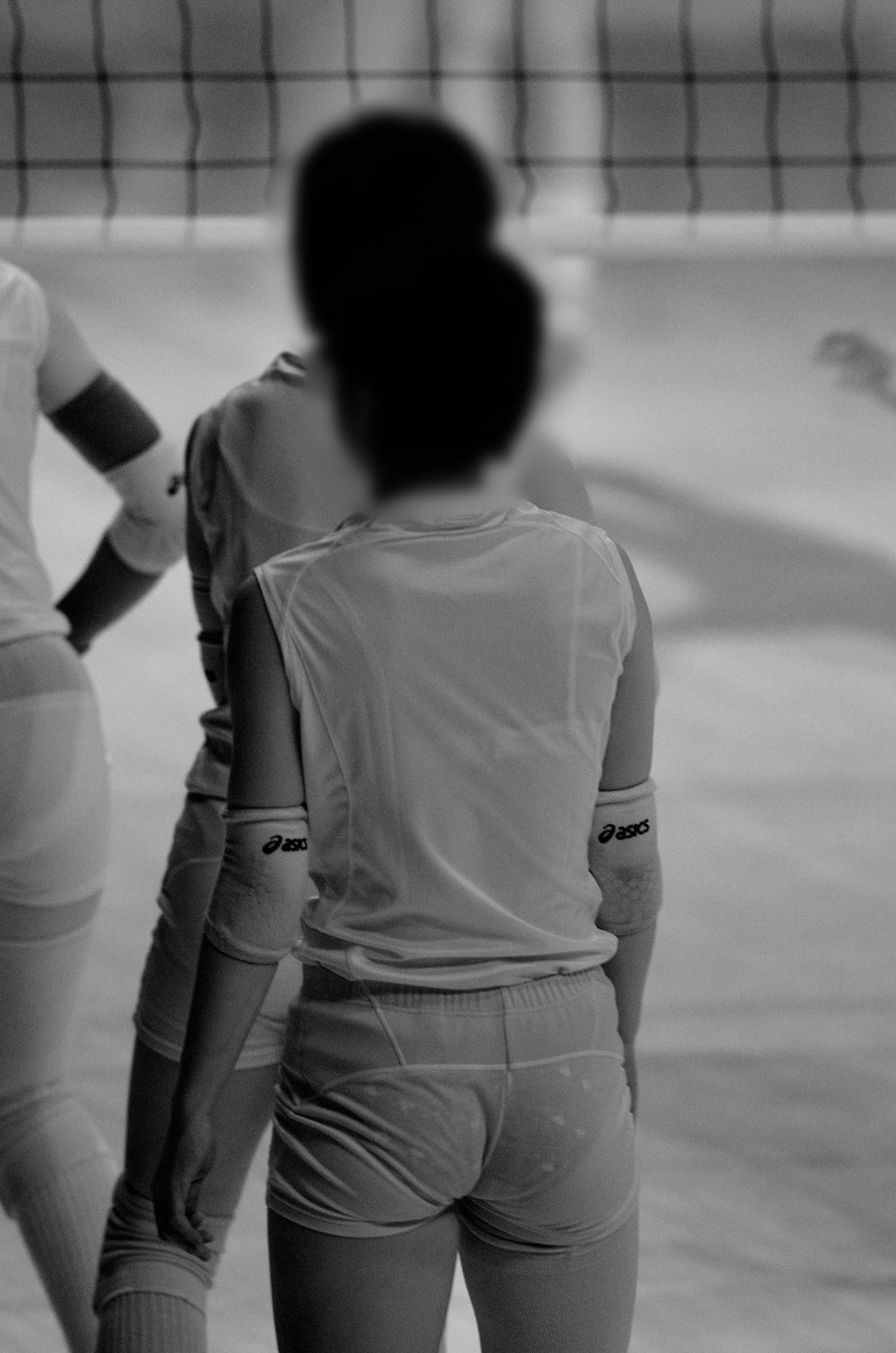JK女子の競泳水着から透けてしまった剛毛の赤外線盗撮エロ画像3枚目
