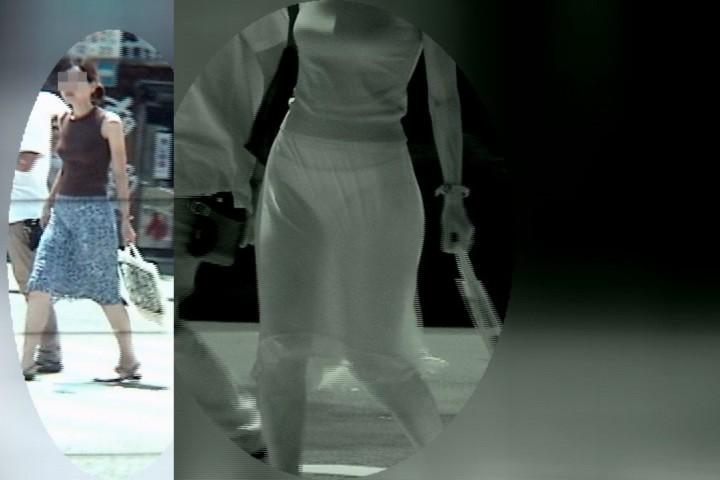 JK女子の競泳水着から透けてしまった剛毛の赤外線盗撮エロ画像8枚目