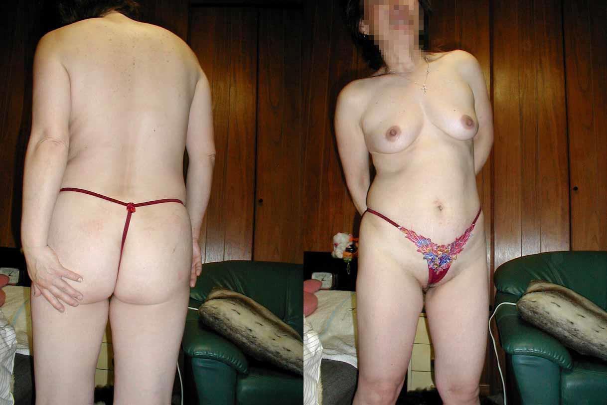 超熟がTバック下着で恥じらう不倫人妻のエロ画像6枚目