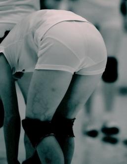 競泳水着のjk乳を赤外線カメラで盗撮したエロ画像9枚目
